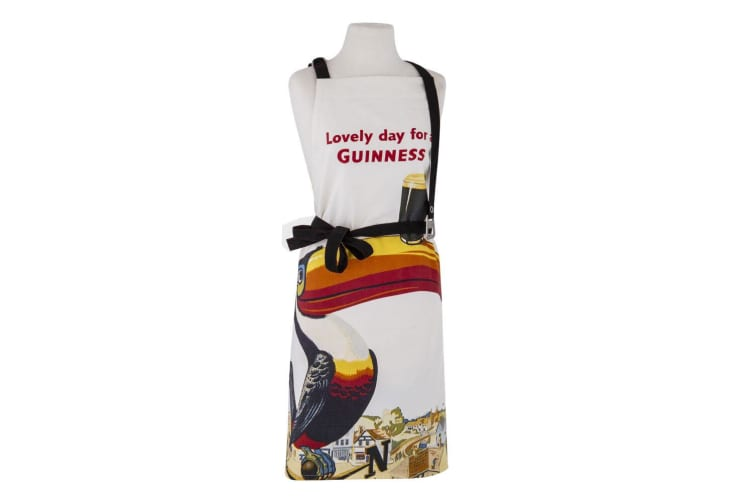Guinness Gilroy Adjustable Apron Chef Kitchen Cooking w  Bottle Opener Cream
