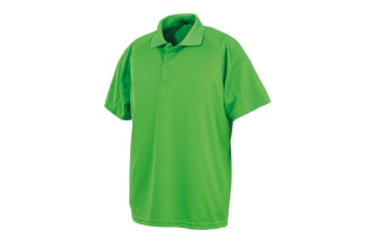 Spiro Unisex Adults Impact Performance Aircool Polo Shirt (Lime Punch) (XXL)