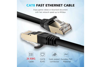 Yellow-Price 25F/7.6M CAT8 Ethernet Lan Network Cable 40Gbps 2000Mhz