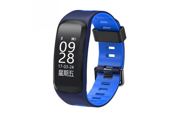 "Bluetooth V4.0 Smart Watch Heart Rate Blood Oxygen Gps Ip68 0.96"" Oled - Blue"