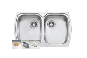 Oliveri Monet Double Bowl Topmount Sink (MO763-1TH)