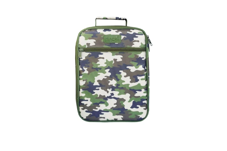 Sachi Style 225 Insulated Junior Lunch Tote Camo Green