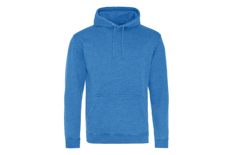 AWDis Hoods Adults Unisex Washed Look Hoodie (Washed Royal Blue) (S)