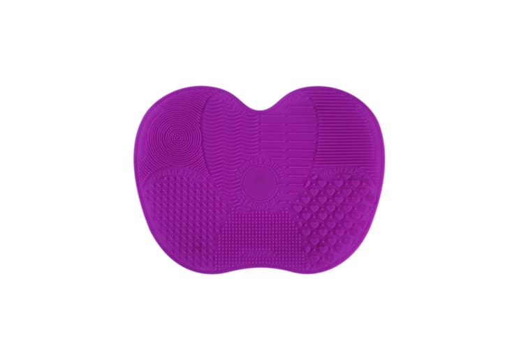 Silicone Makeup Brush Cleaner Pad Washing Scrubber Board Cleaning Mat  Purple