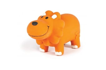 Charming Pet Lil Roamers Latex Lion Dog Toy (Orange)
