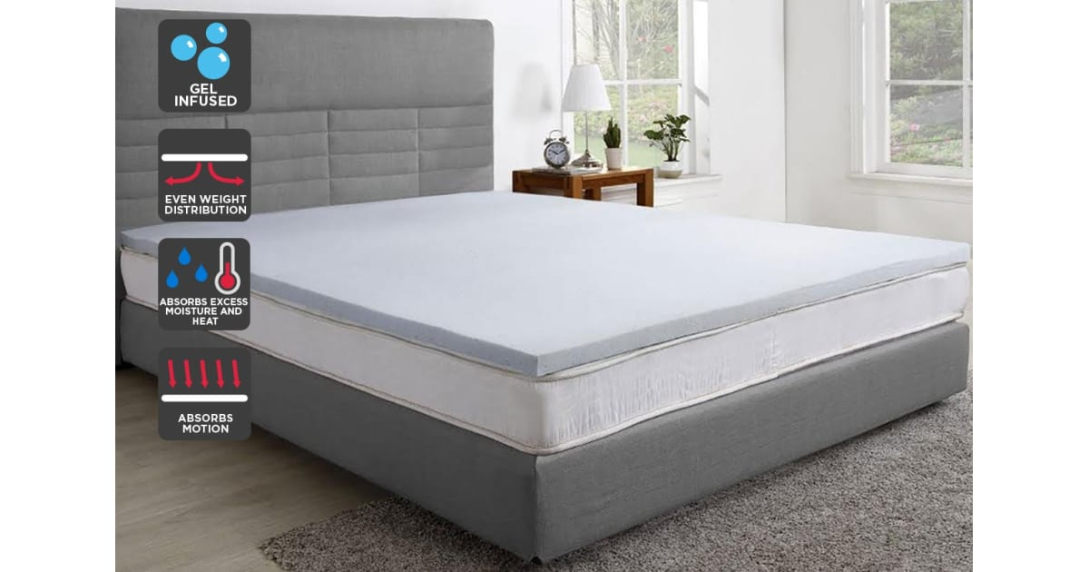 Memory Foam Mattress Topper.Trafalgar Gel Infused Memory Foam Mattress Topper With Bamboo Cover Single Mattress Toppers