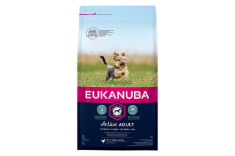 Eukanuba Active Adult Toy Breed Chicken Complete Dry Dog Food (May Vary) (2kg)