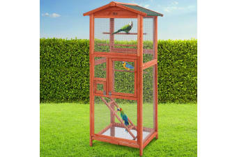i.Pet Bird Cage Wooden Pet Cages Aviary Large Carrier Travel Canary