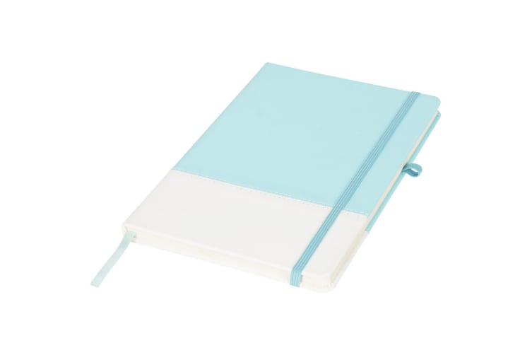 Bullet Two Tone Colour Block A5 Notebook (Mint) (One Size)