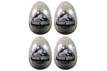 4x 46pc Jurassic World Egg Jigsaw Puzzle Educational/Learning Toy Kids/Child 4y+