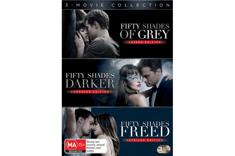Fifty Shades 3 Movie Collection Box Set DVD Region 4