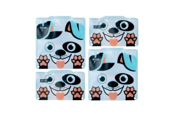 Russbe Reusable Snack And Sandwich Bags - Set 4-dog