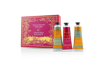 Crabtree & Evelyn Festive Winter Hand Trio (1x Frosted Spicewood, 1x White Cardamom, 1x Red Berry & Fir) 3x25ml