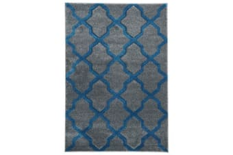 Cross Hatch Modern Rug Grey 330x240cm