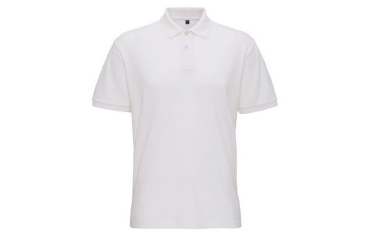 Asquith & Fox Mens Super Smooth Knit Polo Shirt (White) (L)