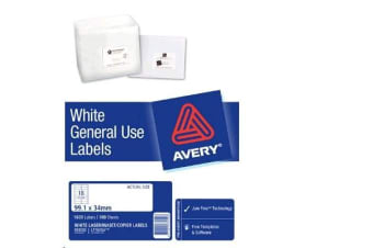 AVERY GENERAL USE L7162 A4 16 LABELS/SHEET 100SH/PK