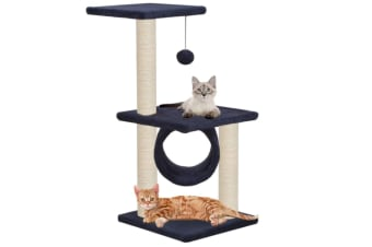 vidaXL Cat Tree with Sisal Scratching Posts 65 cm Dark Blue