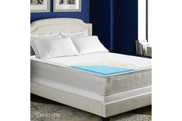 4cm Dual Layer Cool Gel Memory Foam Topper (King)