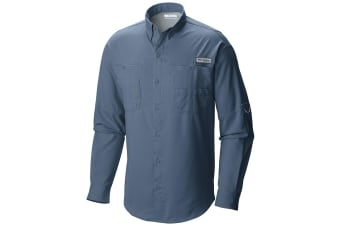 Columbia Mens Tamiami II Long Sleeve Shirt - Blue Herro