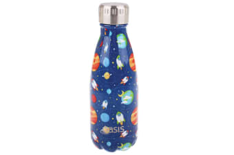 Oasis 350ml Double Wall Insulated Water Drink Bottle Vacuum Flask Outer Space