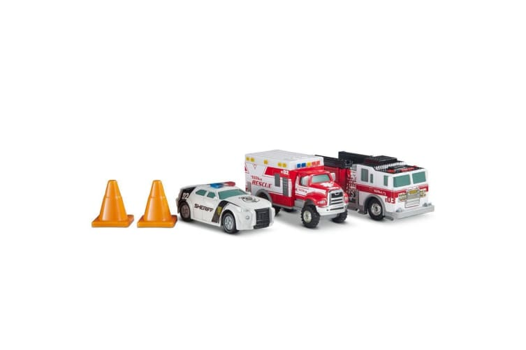 Tonka Metal Diecast First Responders Rescue Truck 3 Pack