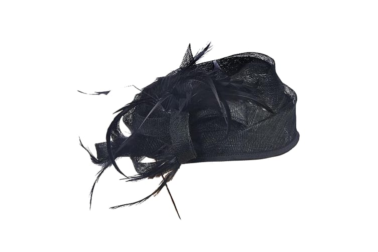 Intrigue Womens/Ladies Structured Fascinator (Black) (One Size)