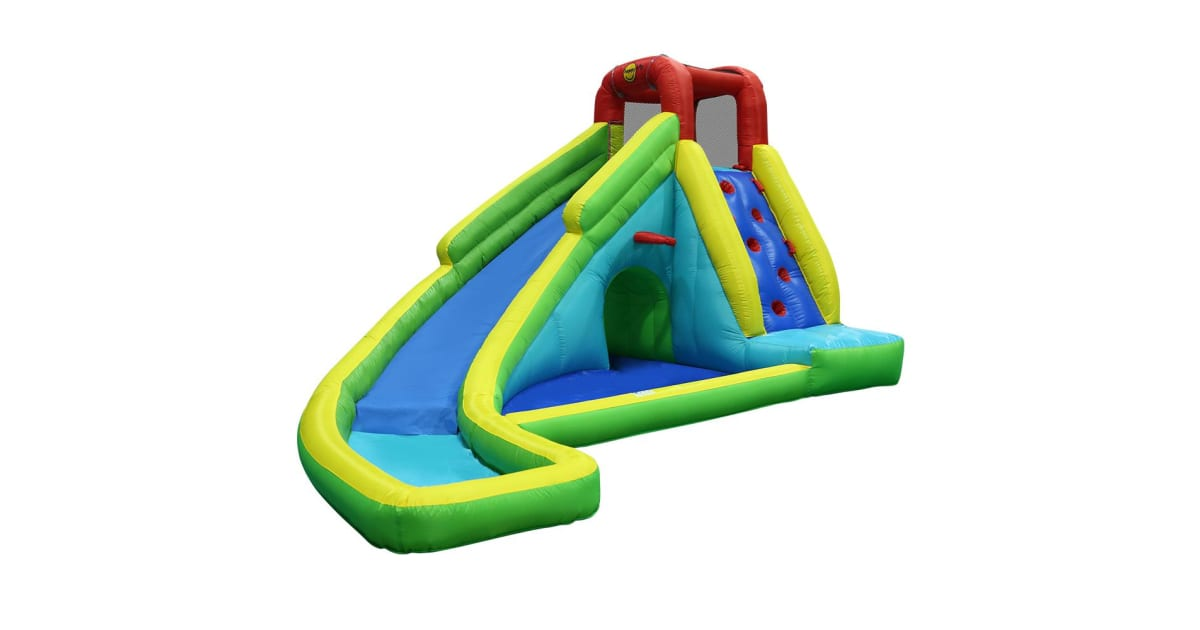Inflatable water slide jumping trampoline castle bouncer for Happy hop inflatable water slide