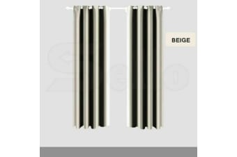 2x Blockout Curtains Panels Blackout 3 Layers Eyelet Room Darkening  140x244cm