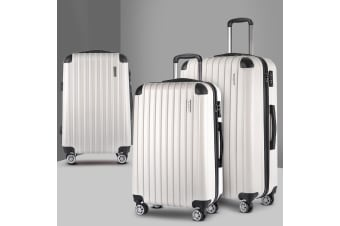 3pc Luggage Sets Suitcase Set Free Scale TSA Travel Hard Case
