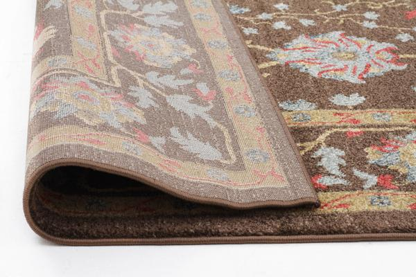 Nain Persian Design Rug Brown Red 500x80cm