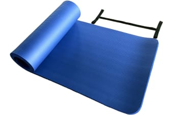 15MM Thick Yoga Mat Non Slip Durable Exercise Fitness Gym Mat Lose Weight Pad blue