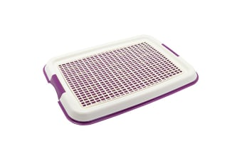Purple Indoor Pet Puppy Dog Potty Training Portable Toilet Large Loo Pad Tray Mat Small