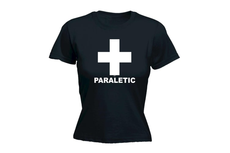 123T Funny Tee - Paraletic - (XX-Large Black Womens T Shirt)