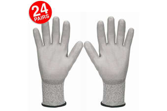 24PK Jackson Size 9/L Safety Work Gear G60 Level 5 Cut Resistant Gloves Hands