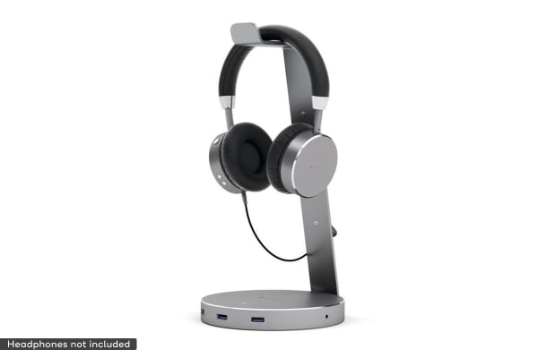 Satechi Aluminium USB 3.0 Headphone Stand (Space Grey)