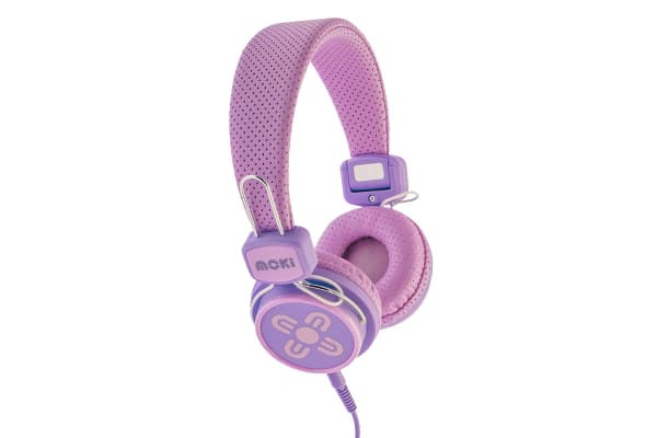 Moki Kids Safe Over Ear Headphones - Pink/Purple (ACCHPKSPP)