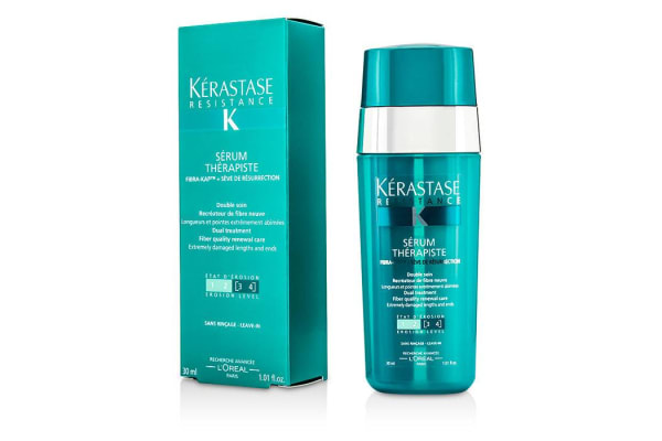 Kerastase Resistance Serum Therapiste Dual Treatment Fiber Quality Renewal Care (Extremely Damaged Lengths and Ends) (30ml/1.01oz)