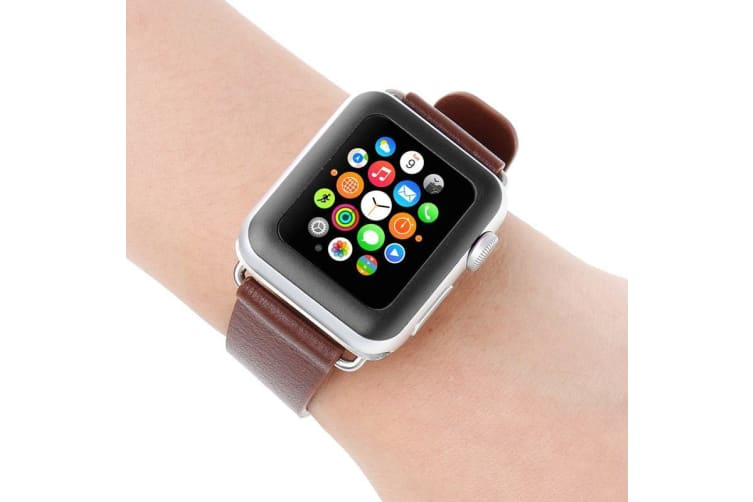 For Apple Watch 3/2/1 (38mm) Full Cover Edge Only Glue Tempered Glass Film