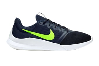 Nike Men's Viale Tech Racer Shoes (Black/White/Green, Size 10 US)