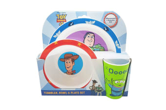 Toy Story PP Tableware (3 Piece Set) (Multicoloured) (One Size)