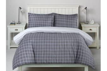 Printed Cotton Sateen Quilt Cover Set King Single Bed Williams