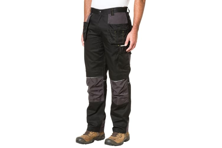 Caterpillar Mens C1810002 Skilled Ops Workwear Trousers (Black) (34S)