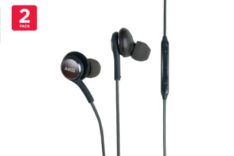 2 Pack Samsung AKG EO-IG955 In-Ear Earphones (Black)