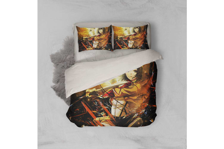 3D Anime Attack Giant Quilt Cover Set Bedding Set Pillowcases 89-Double