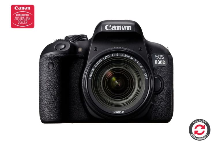 Refurbished Canon EOS 800D DSLR Camera with EFS18-55mm f/4-5.6 IS STM Single Lens