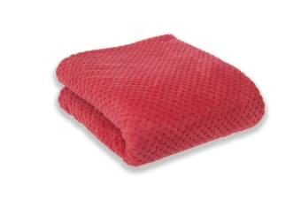 Apartmento Diamond Fleece Blanket (Coral)
