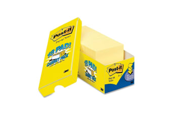 Post-it Pop-up Notes Cabinet Pack Yellow (76mm x 76mm, 18 Pack)