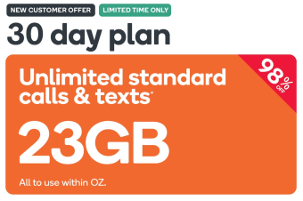 Kogan Mobile Prepaid Voucher Code: EXTRA LARGE (30 Days | 23GB) - New Customer Only