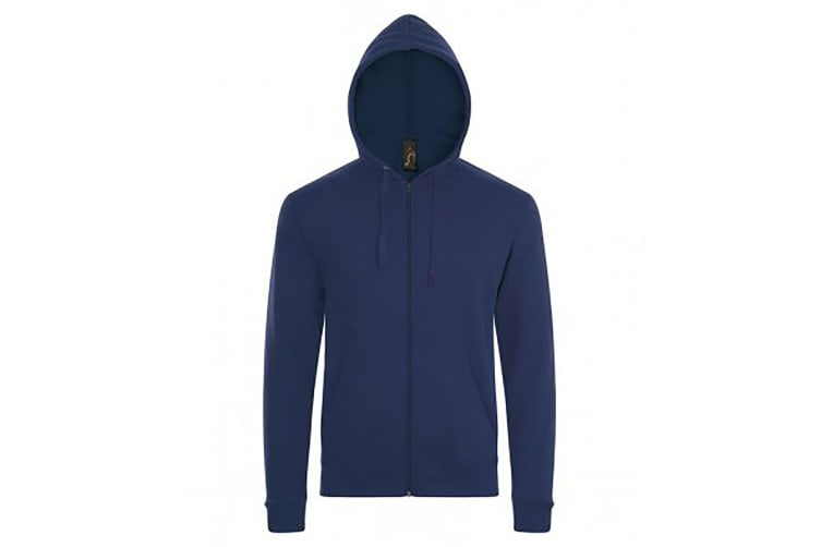 SOLS Mens Stone Zip Up Plain Hoodie (French Navy) (S)
