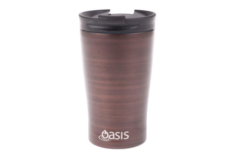 Oasis Stainless Steel  Double Wall Insulated Travel Cup 350ml Bronze Swirl